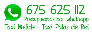 Precios de Taxi en Melide y Palas de Rei